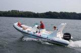 Liya 6.6mのガラス繊維の膨脹可能な肋骨のボートの沖釣りのボート