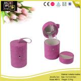 熱い販売カスタム紫色の革ボックス宝石類の包装の収納箱(8513)