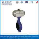 Venda Direta de fábrica comando pneumático o Quick Install Grau Alimentício Válvula Borboleta