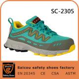 2017 zapatos de seguridad juguetones superventas del ingeniero con el casquillo de acero Sc-2305 de la punta