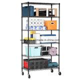 Home Premium de 6 estante de almacenamiento de nivel de rodadura de alambre de acero ajustables Garaje Rack