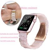 Fashion Metal Stainless Steel Pink Gold Buckle Resin Iwatch Band for APPLE Watch Bracelet