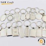 Guangzhou-Fabrik-Metallleerzeichen-Sublimation-Schlüsselkette mit Firmenzeichen