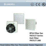 Novo fluxo de ar grande filtro do ventilador de refrigeração para painéis de distribuição elétrica (FK5527)