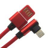 Cargador rápido de gama alta 2.4A Cable 8 pines de 90 grados lateral Doble Rayo Cable USB para el iPhone X 8 Plus iPad aire Mimi 3 4