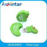 Резиновый USB флэш-диск USB Memory Stick™ 2D/3D деловых обедов флэш-накопитель USB