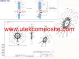 Axialer Antreiber für Ventilation und das Abkühlen