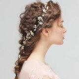 نمو زهرة [هندمد] يتزوّج زفافيّ لؤلؤة شعر شريكات [هيربند]