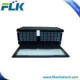 96의 144의 코어 1u 19 인치 MPO 4HD 카세트 섬유 패치 패널