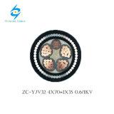 cabo subterrâneo do IEC 60502-1 blindado da baixa tensão dos núcleos 4X240+120mm2 5