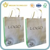 Bolsa de papel blanca de Kraft con la maneta modificada para requisitos particulares (bolso de Eco)