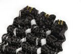 工場販売のブラジルの毛のWeft薄い色の深い波18inches