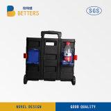 Carro de compras/carretilla plástica plegable del supermercado/cesta de empaquetado de la carretilla/de lavadero
