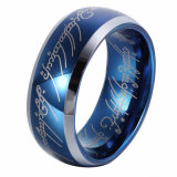 Anello del tungsteno dei monili di Shineme degli uomini blu dell'anello (TSTBL10)