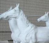 Lámpara de suelo de cristal del caballo de la tela grande popular con la iluminación de la certificación del Ce