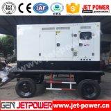 generatore diesel mobile di 65kw Shangchai con il generatore elettrico del rimorchio 80kVA