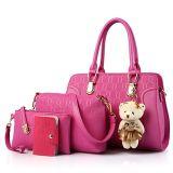 여자의 4개의 PCS 어깨에 매는 가방은 질 PU 가죽 핸드백과 지갑 세트를 상단 취급한다