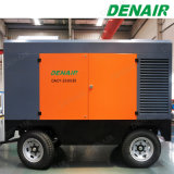 Motor Diesel - compressor de ar portátil móvel conduzido para Quarrying de pedra