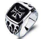 De nieuwe Juwelen van de Manier van de Ring van het Ontwerp Dwars Twee Zegelringen van de Mensen van de Stijl van de Verklaring van Kleuren Toevallige Punk Retro Mannelijke