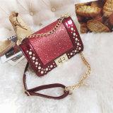 Оптовая торговля Pearl блокировки пайетками Messenger сумки через плечо PU женщин дамской сумочке