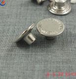 17mm kundenspezifische Firmenzeichen-Metalltasten-Denim-Schaft-Taste für Jeans