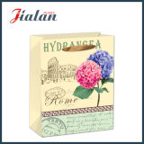 Retro Blumen gedruckten kaufenträger-Geschenk-Papierbeutel anpassen