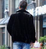 人のジャケットの衣服のための短い折りえりののどのミンクの毛皮のコート