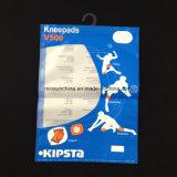 Sacchetto composito di imballaggio di plastica con l'amo della plastica del PE