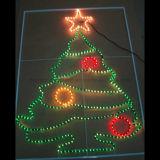 屋外の装飾のための卸し売りクリスマス50mの白い円形2ワイヤーロープライト