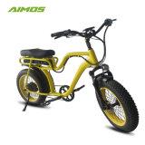 Los neumáticos de la grasa de la batería Li-Lion Beach Cruiser ciclomotor E Bicicleta con doble asiento