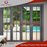 Vidro corrediço de dobragem impermeável de alumínio porta do pátio