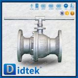 La llave inglesa segura del diseño del fuego de Didtek funciona la vávula de bola de flotación