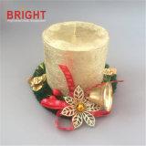 عيد ميلاد المسيح عالة نوع ذهب [لكر] ريفيّ عمود شمعة لأنّ زخرفة
