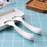 Edelstahl-Besteck/Tischbesteck eingestellt mit der Plastikhand für Kind einschließlich Löffel und Gabel