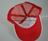 Sombrero 100% del camionero del panel del poliester cinco con insignia del bordado 3D