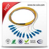 divisor de fibra óptica de aço do PLC da câmara de ar 1*8 de 0.9mm mini