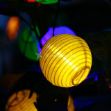 Bola de linterna LED de 30 luces de la cadena Solar iluminación de exterior Lámpara Solar Fairy mundo decorativas de Navidad