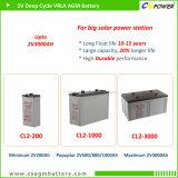 2V selladas AGM libres de mantenimiento de la batería de ciclo profundo 500 ah