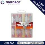 Mercury&Cadmium 자유로운 중국 공장 PVC 상자 (AA/AAA)를 가진 매우 알카리 전지 5 년 재고 유효 기간