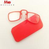 (DR1575) Nuevo mini clip ligero de la nariz encendido, vidrios de lectura de la lente de la resina