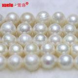 12-13mm a+の大きい円形の自然な培養された淡水の真珠のビードの繊維E180004
