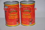 Las conservas de sardina en salsa de tomate con ají 425g fácil abrir