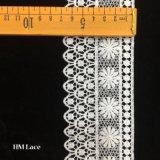 백색 Venise 레이스 손질 떨어져 4.5cm, 작은 꽃 손질 레이스, 레이스 테이프 Hmhb1366