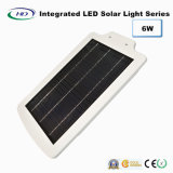 6W sensor de PIR integrado LED Solar Garden Light