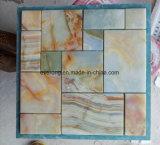 Желтый индикатор Narual дерева мрамора/Оникс мозаика на фоне настенные и напольные плитки