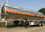 aanhangwagen 2 van de Tanker van de Legering van het Aluminium van 35cbm de Tanker van het Roestvrij staal van Assen