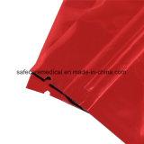Sacchetto impaccante medico a chiusura lampo rosso del Mylar
