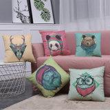 Tampa impressa do coxim do algodão da decoração linho Home para o sofá (35C0207)