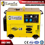 tipo silencioso diesel refrigerado generador de 5.5kVA 6kw para el uso casero
