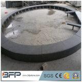 Piedra que hace frente gris oscura de la piscina del granito G654